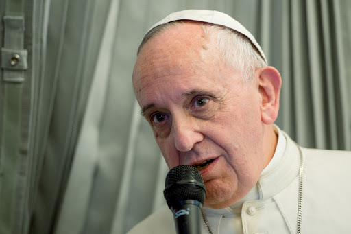 Pope Francis during the press conference on the papal flight - CPP - en