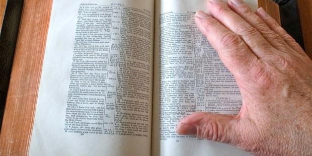 BIBLE HAND POV George Redgrave CC