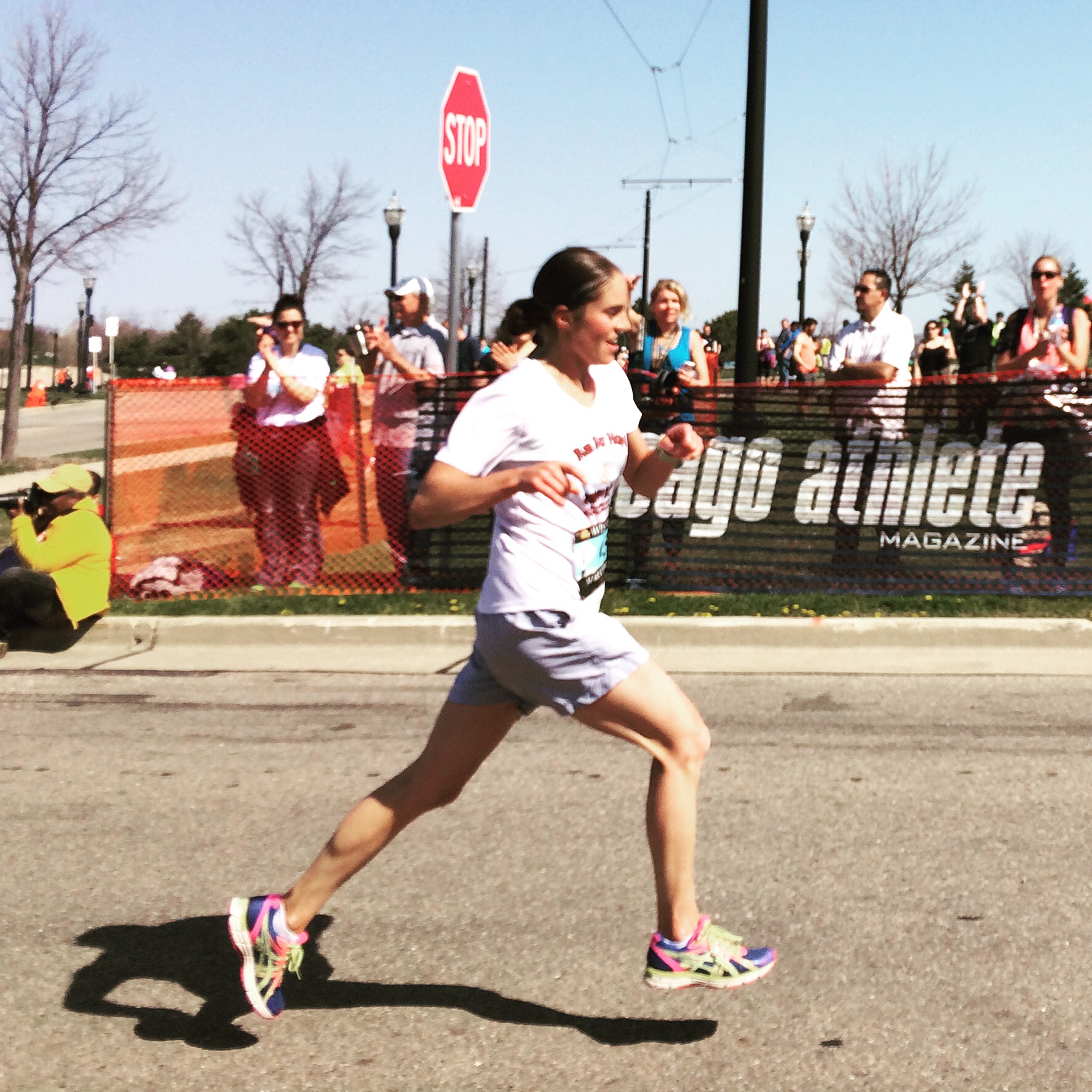Lillie Romeiser prepares to run the New York City Marathon