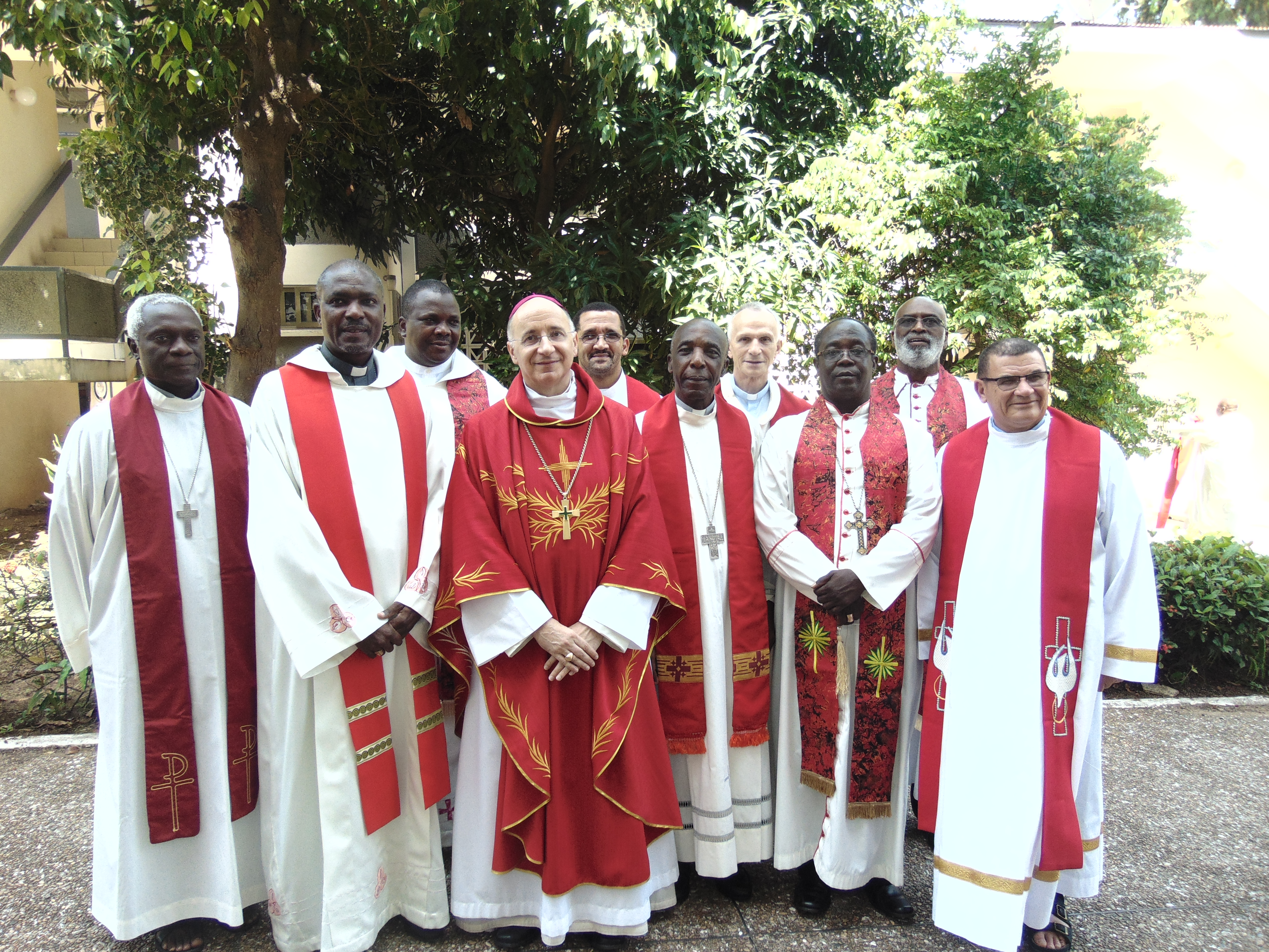 Archbishop Jean-Marie Speich with members of the Standing  Committtee of SECAM in Accra, Ghana.-2