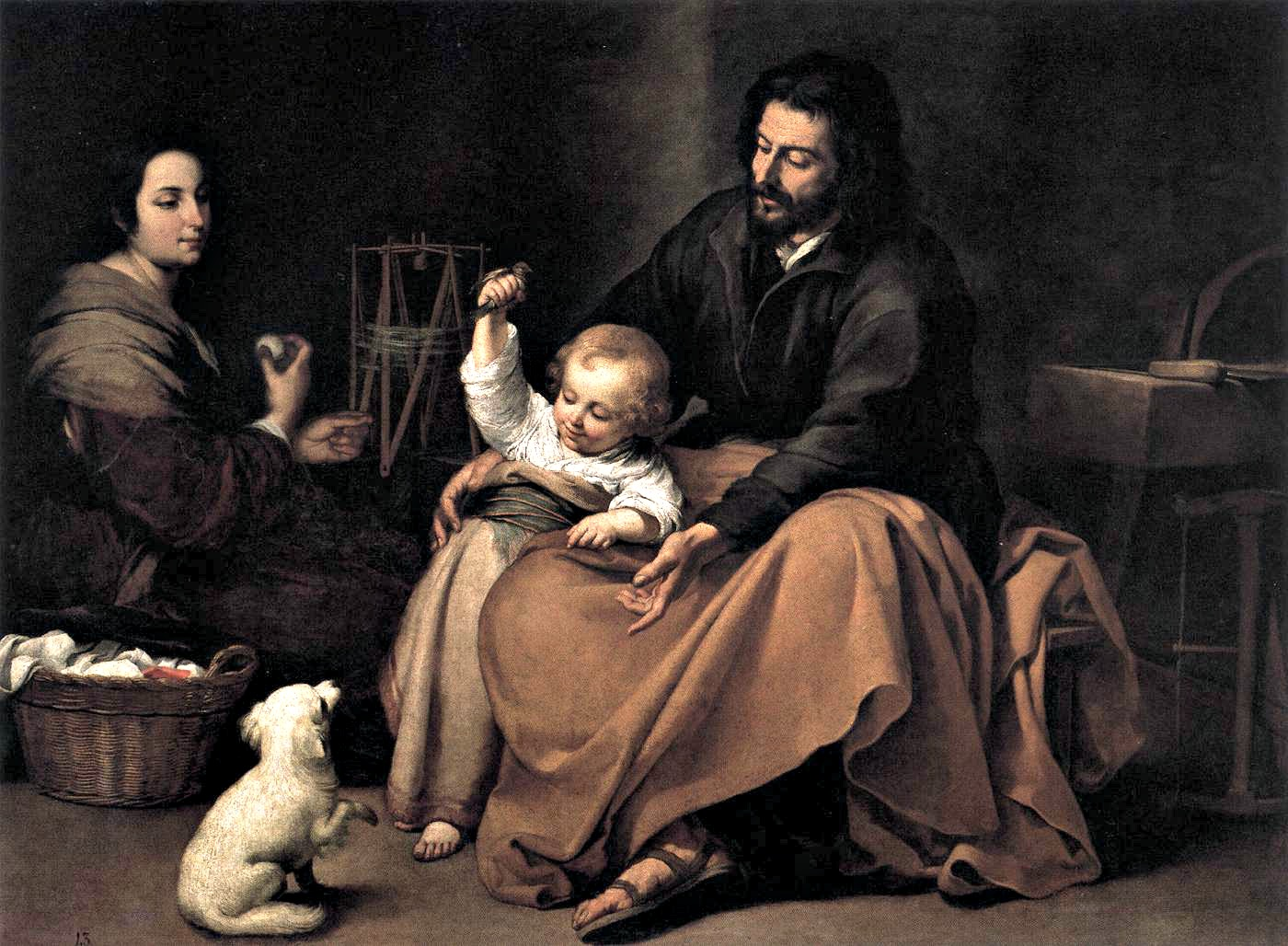Bartolomé_Esteban_Perez_Murillo_-_The_Holy_Family_with_a_Bird_-_WGA16356