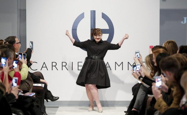 NEW YORK, NY - FEBRUARY 12:  Actress Jamie Brewer walks the runway during the Role Models Not Runway Models - Carrie Hammer Runway - Mercedes-Benz Fashion Week Fall 2015 at Lightbox on February 12, 2015 in New York City.  (Photo by Brian Ach/Getty Images)