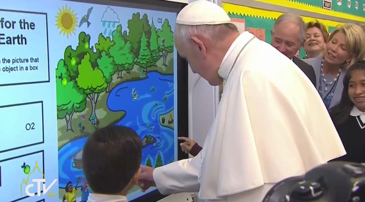 pope touch screen