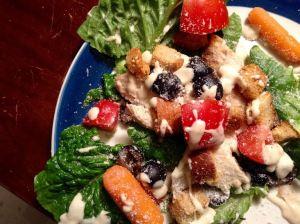 food blog chicken and salad