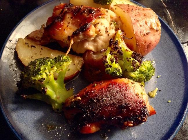 food blog chicken broccoli potatoes
