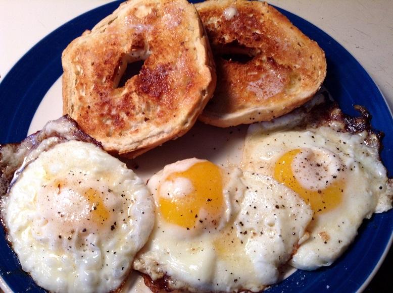 food blog fried eggs