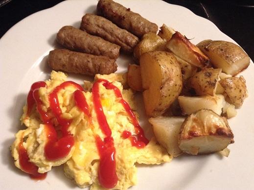 food blog ketchup eggs