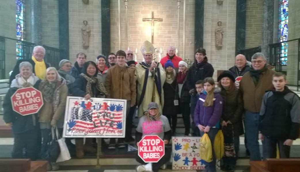 Peg Campbell, St. Charles Borromeo parish, Cinnaminson, NJ with participants from Sacred Heart, Riverton and Our Lady of Good Counsel, Moorestown, NJ. Photo Peg Campbell