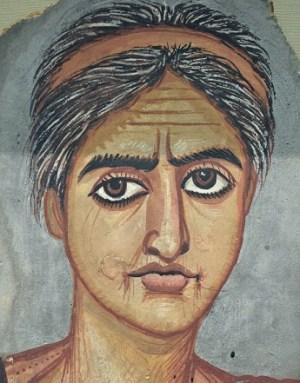 portrait of a woman encaustic