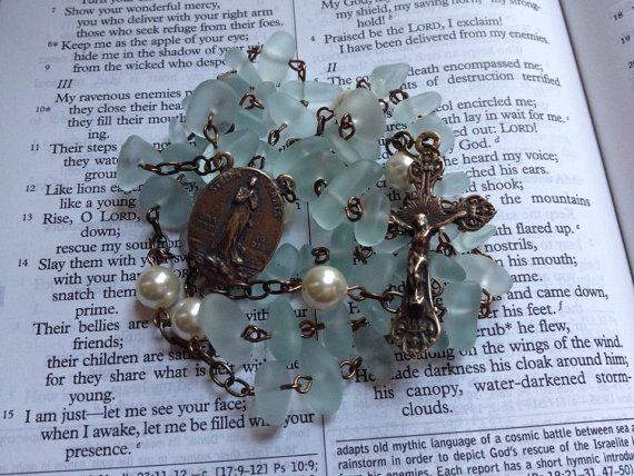 sea glass rosary