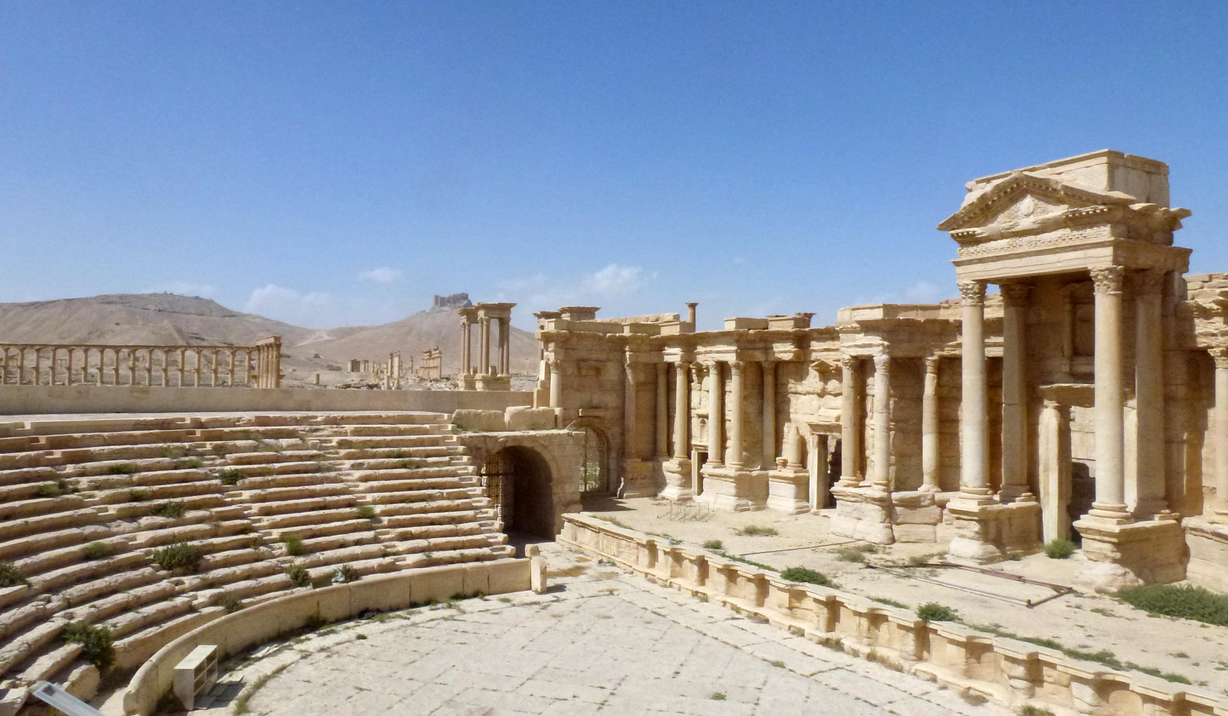 WEB PALMYRA SYRIA CONFLICT AMPHITHEATER ROMAN ©Maher AL MOUNES : AFP AI