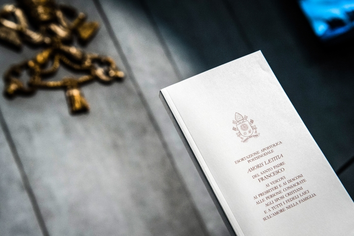 Press Conference for the presentation of the post-synodal Apostolic Exhortation of the Holy Father Francis Amoris Laetitia on love in the family. Vatican Press Office, April 08, 2016