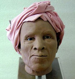 50-60 y/o Woman. Facial reconstruction via the Schuyler Flatts Project. Image:  Courtesy of the New York State Museum