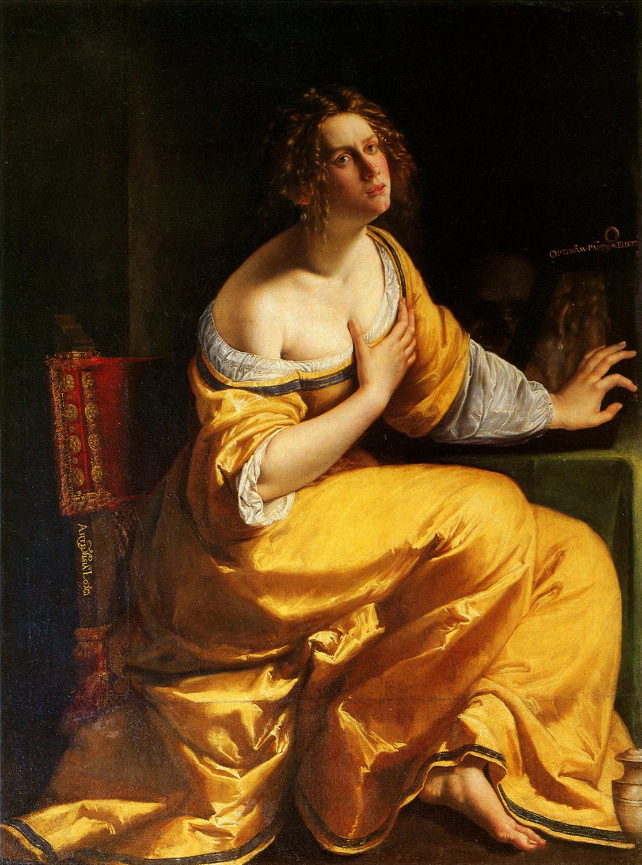 Artemisia Gentileschi / Артемизия Джентилески (1593-1653) - Conversione della Maddalena (Maria Maddalena penitente) / Преображение Марии Магдалины (Кающаяся Мария Магдалина) (1615-1616)