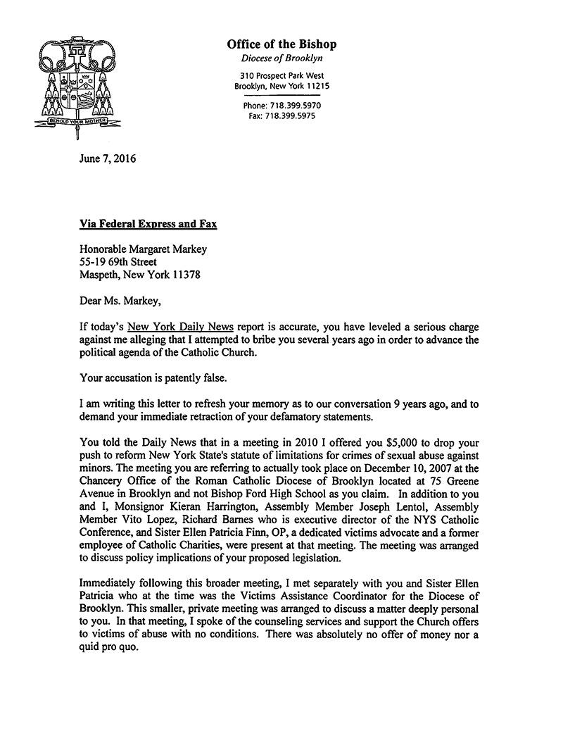 Bishop-DiMarzio-letter-to-Margaret-Markey-page1-1