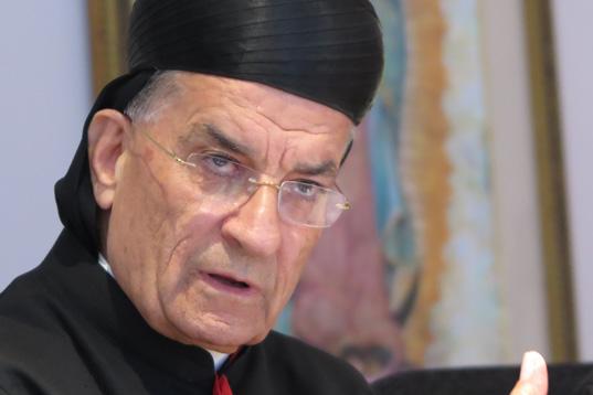 Maronite Patriarch Bechara Boutros Rai speaks at Catholic Near East Welfare Association in New York