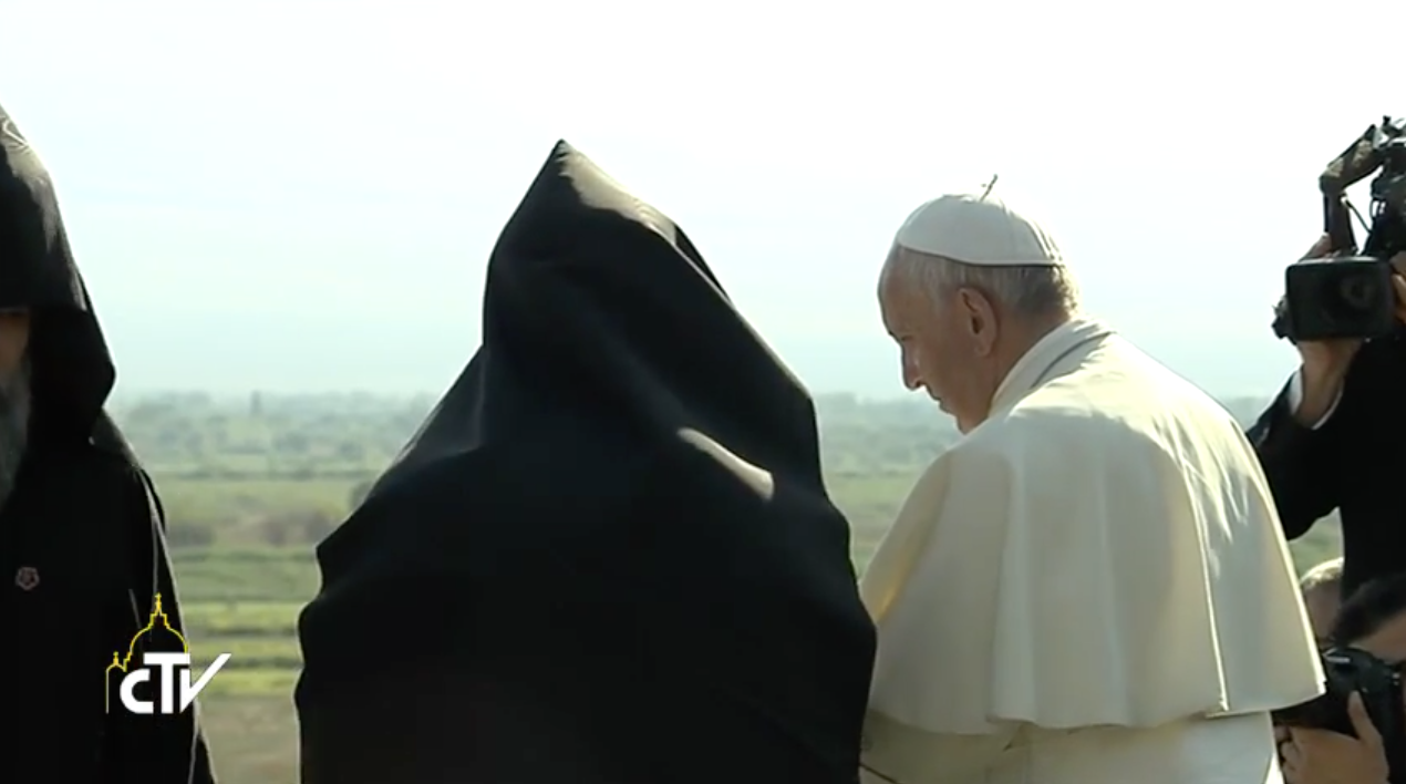 Pope Francis at St. Gregory the Illuminator Monastery