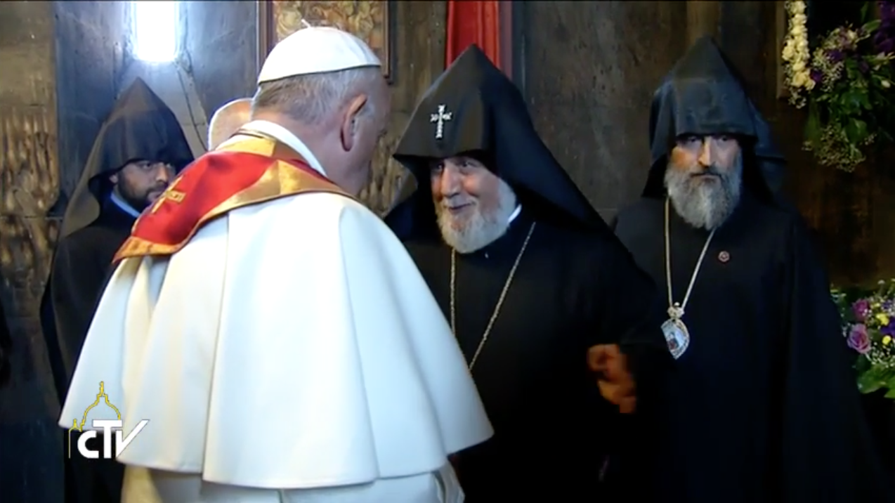 Pope Francis welcomed to St. Gregory the Illuminator Monastery