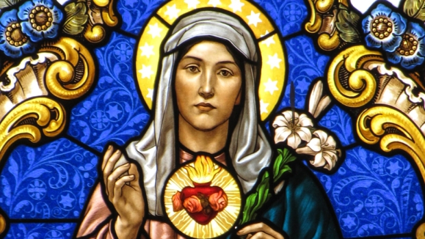 IMMACULATE HEART OF MARY STAINGLASS ART