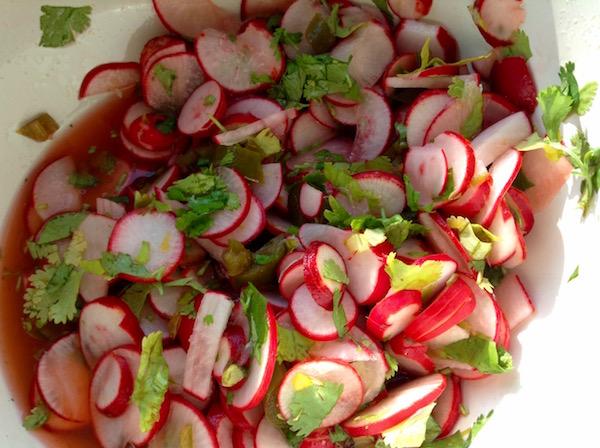 pickled radishes