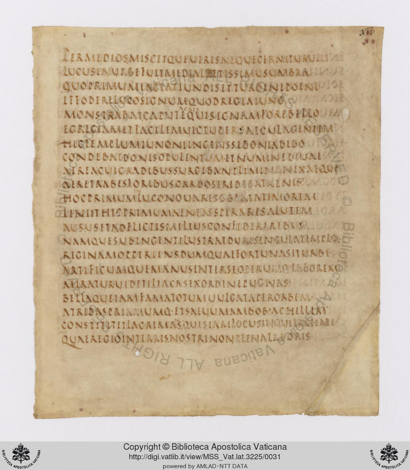This manuscript, Vergilius Vaticanus, is one of the oldest documents that have gone through the digitization process so far.