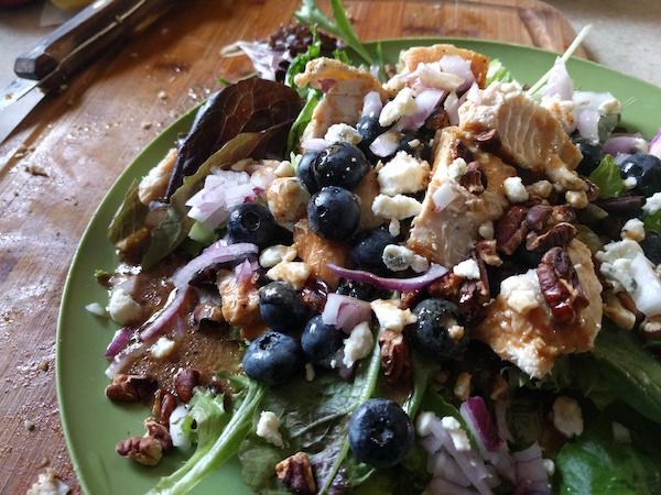 blueberry salad mixed