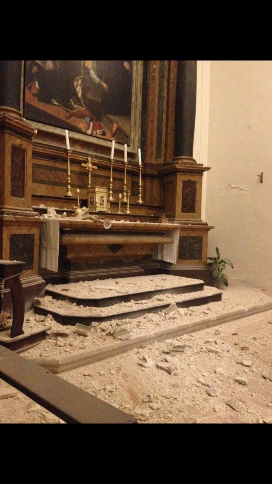 Altar of St. Benedict, Left Transept of the Basilica of St. Benedict, Norcia