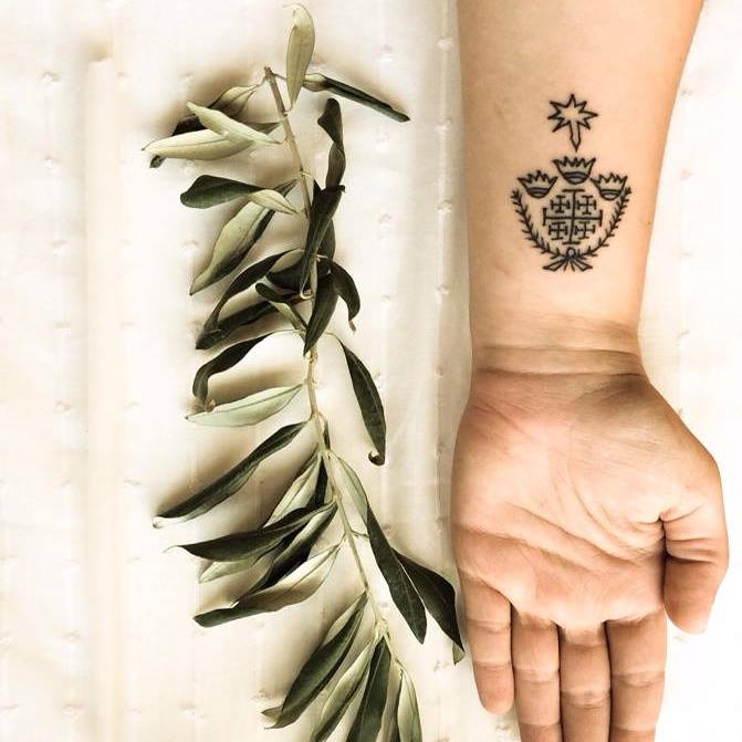 The first Christians to get tattooed were those born in the Holy Land (and also Egypt, as tattoos were also part of the Coptic tradition) in the sixth century, according to the testimony of Procopius of Gaza, perhaps one of the most important Christian Greek rhetoricians of the Second Sophistry