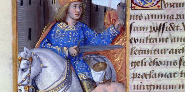 Anonymous, St. Martin sharing His cloak (detail), 1510, Tours, Public Library © Tours, Public Library