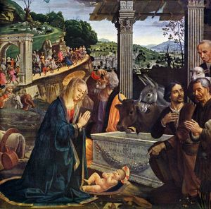 Adoration of the Shepherds by Domenico Ghirlandaio, 1485