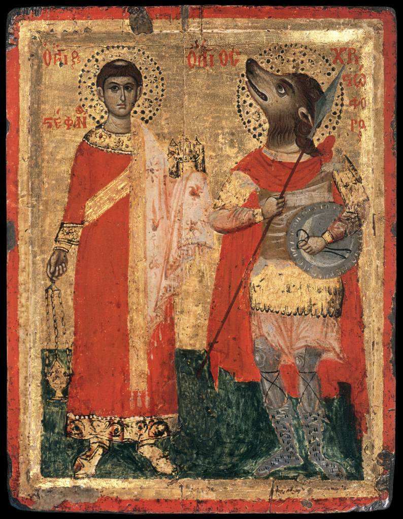Some apocryphal stories even claim St. Peter met the Cynocephali and preached the Gospel to them and some other Eastern Orthodox and African Christian traditions even claim St. Christopher was a Cynocephalus himself.