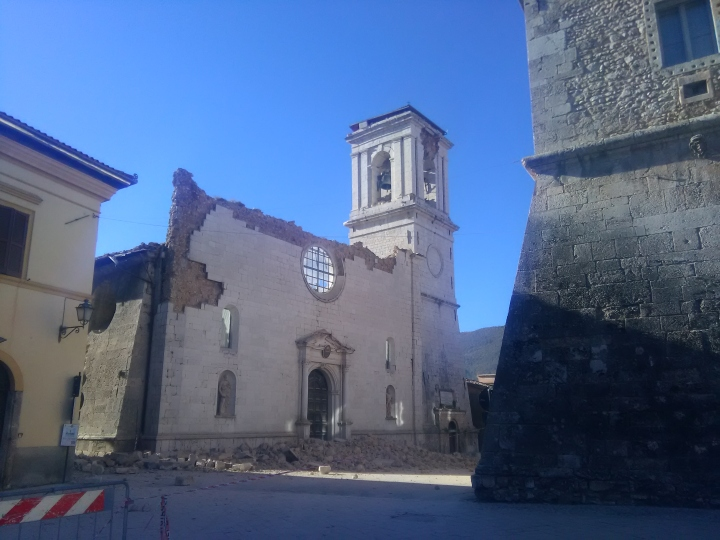 The Norcia co-cathedral was destroyed in the October 20, 2016 earthquake.