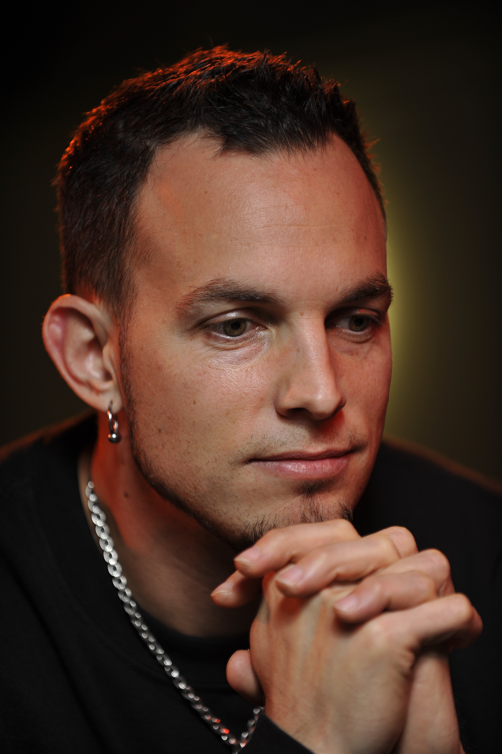 Mark Tremonti, lead guitarist of American rock bands Creed and Alter Bridge. During an interview, Colston Hall. (Photo by Joseph Branston/Guitarist Magazine via Getty Images)