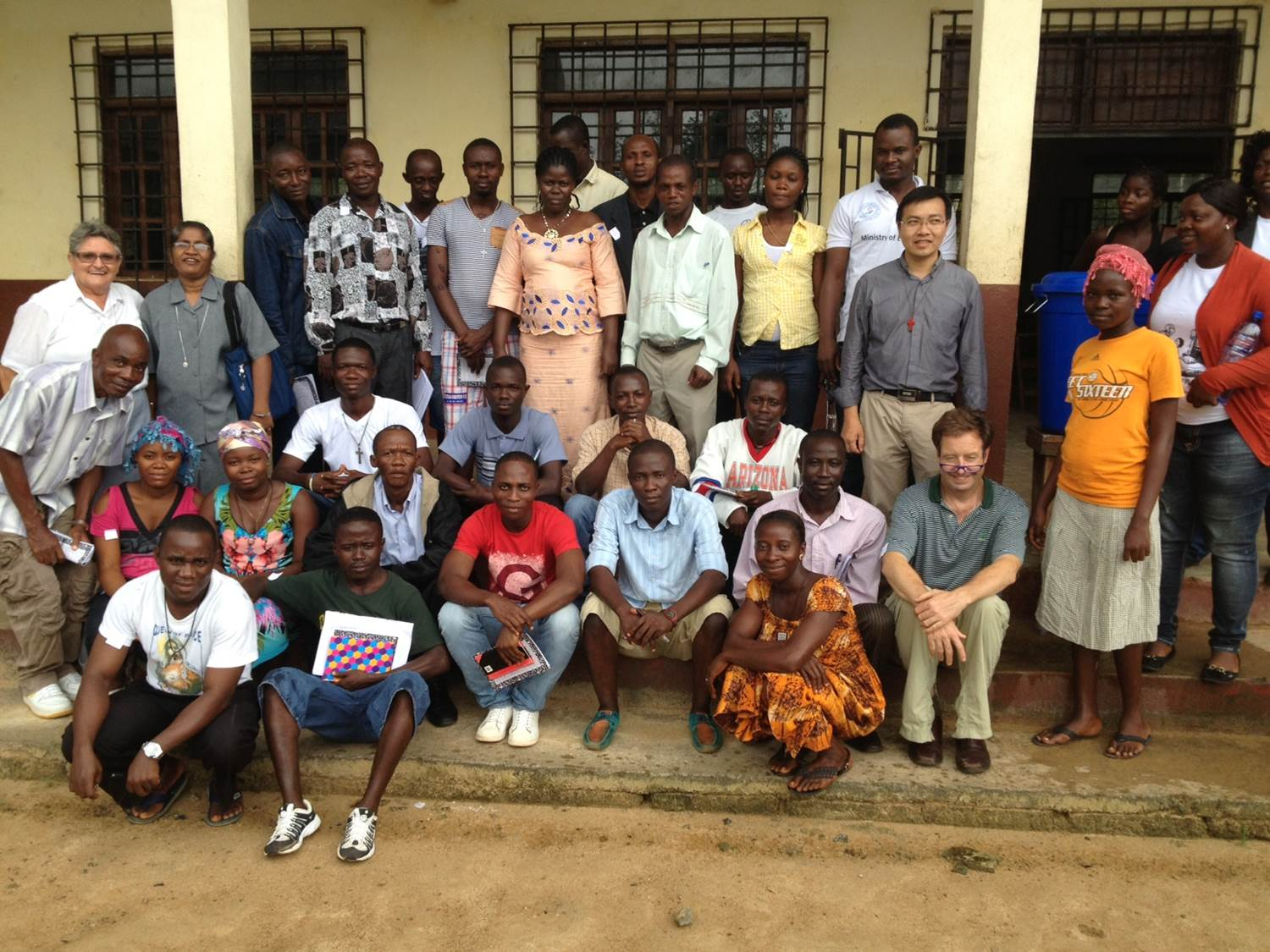 Dr. Flanigan with colleagues in Liberia.