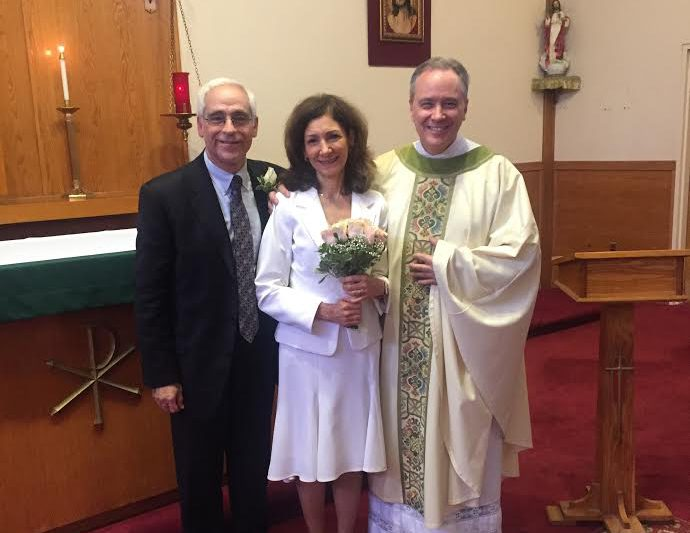 Tom and Rachel Zampino and Monsignor Jim Lisante, November 2016/Used with permission