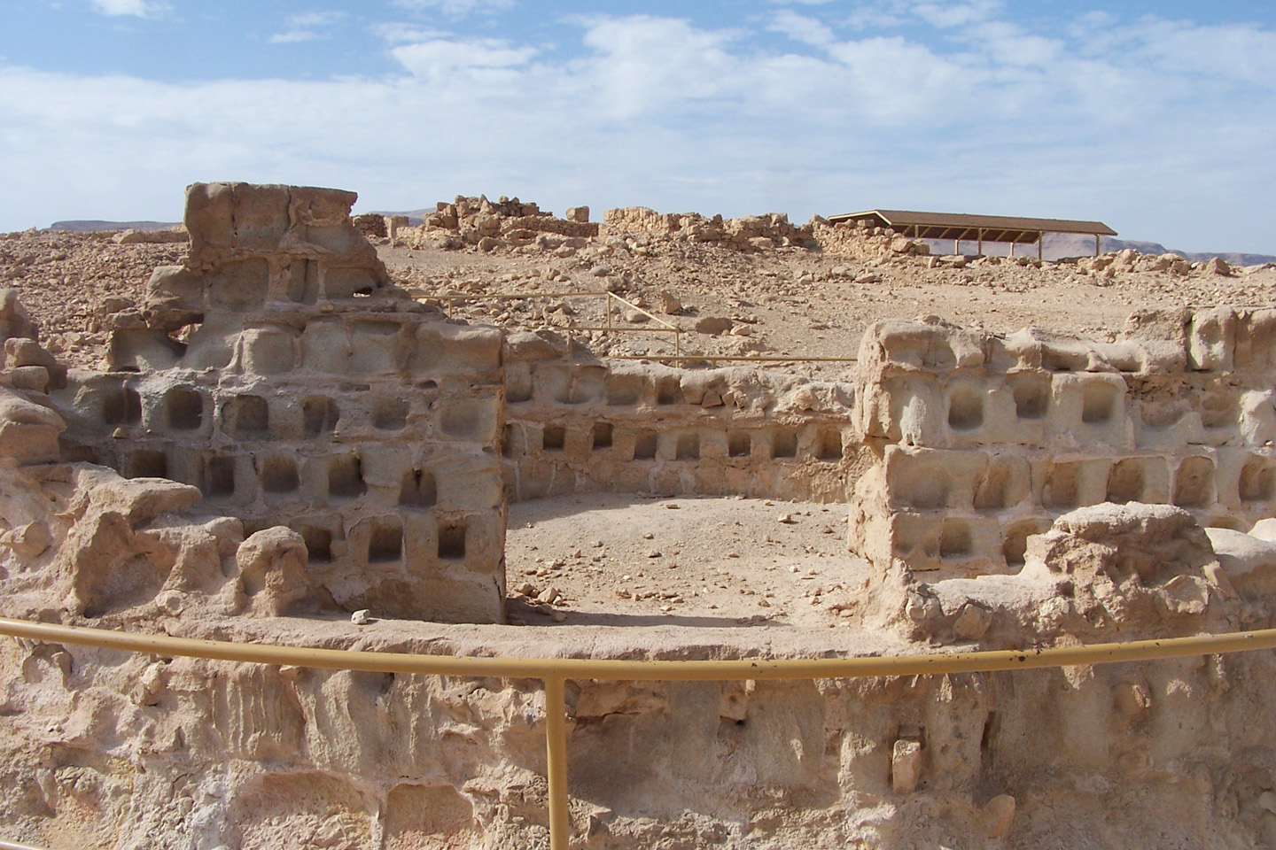 After the Romans destroyed the Second Temple, a group of Jewish rebels fled Jerusalem and settled themselves in Masada. Lucius Flavius Silva, who was then the Governor of Judaea, sieged the cliff for two or three months and eventually the Roman Tenth Legion was able to break through the walls and gates of the fortress and palaces of Masada in the year 73.