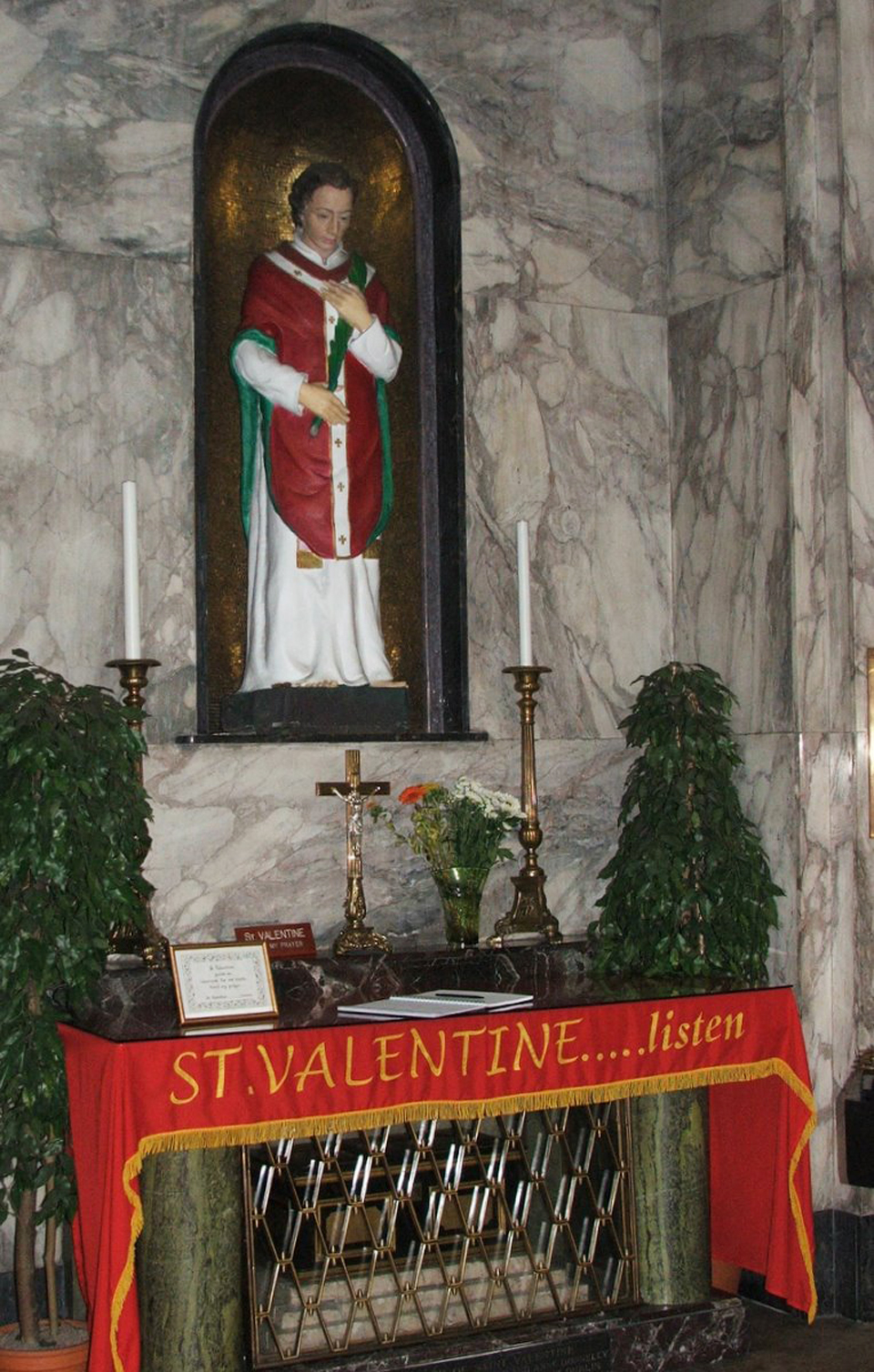 The reliquary of St. Valentine's remains may still be visited today in the Whitefriars Street Church in Dublin.