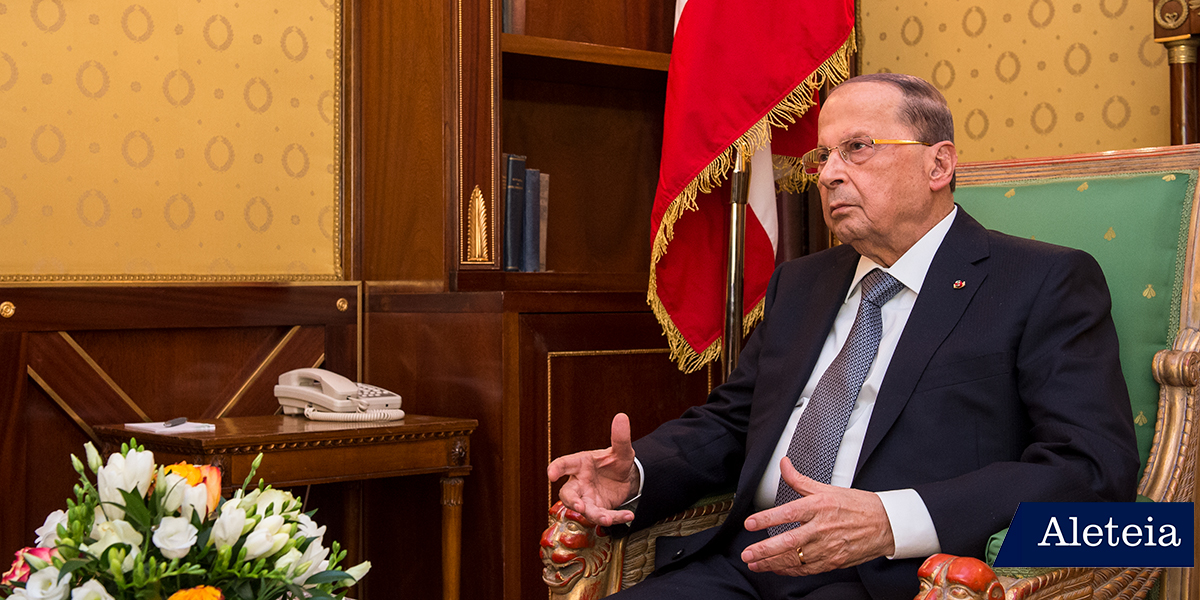 Aleteia had the privilege of meeting with the President of the Lebanese Republic, General Michel Aoun, who arrived in Rome accompanied by his family for an official visit with Pope Francis.