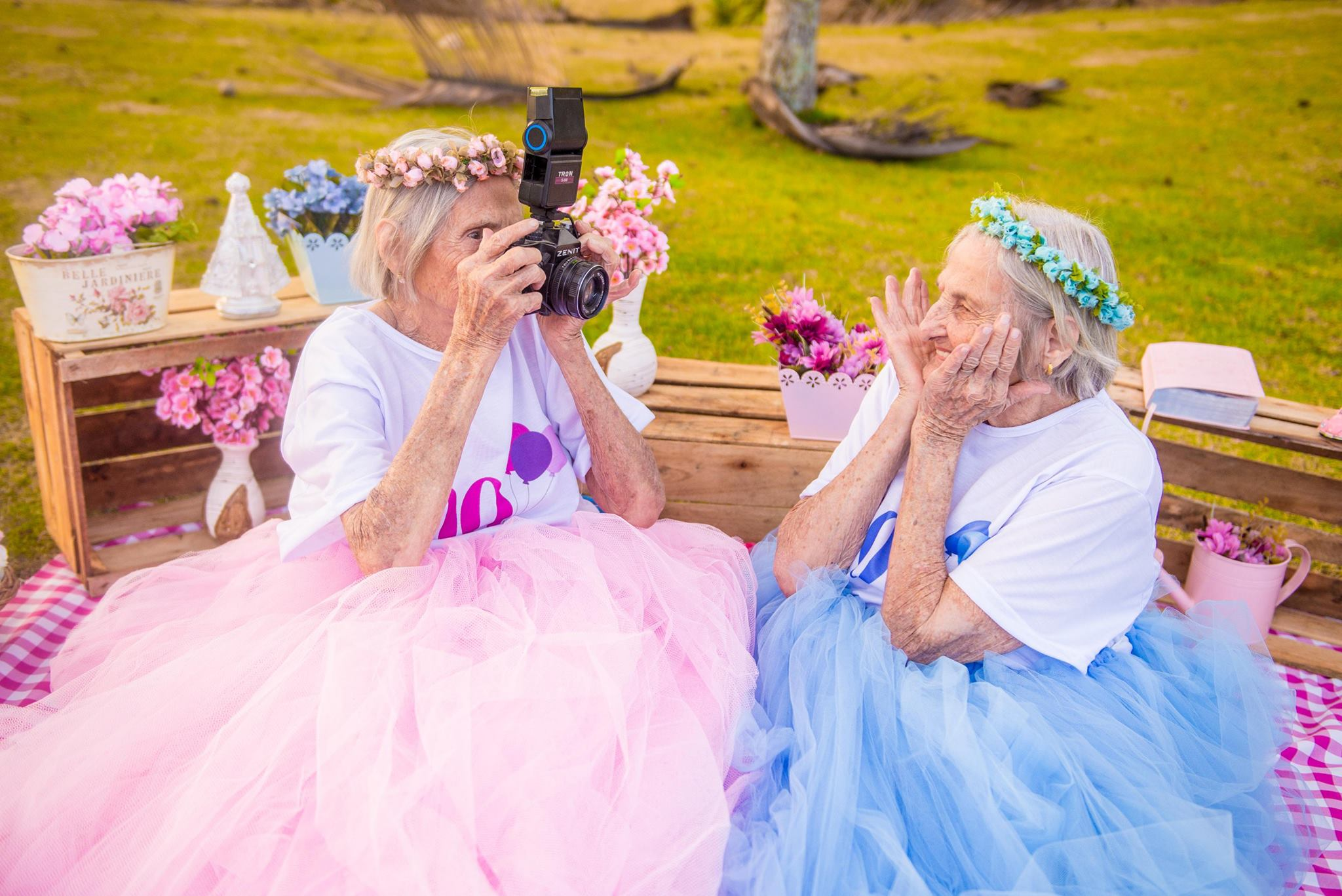 TWIN SISTERS 100TH BIRTHDAY