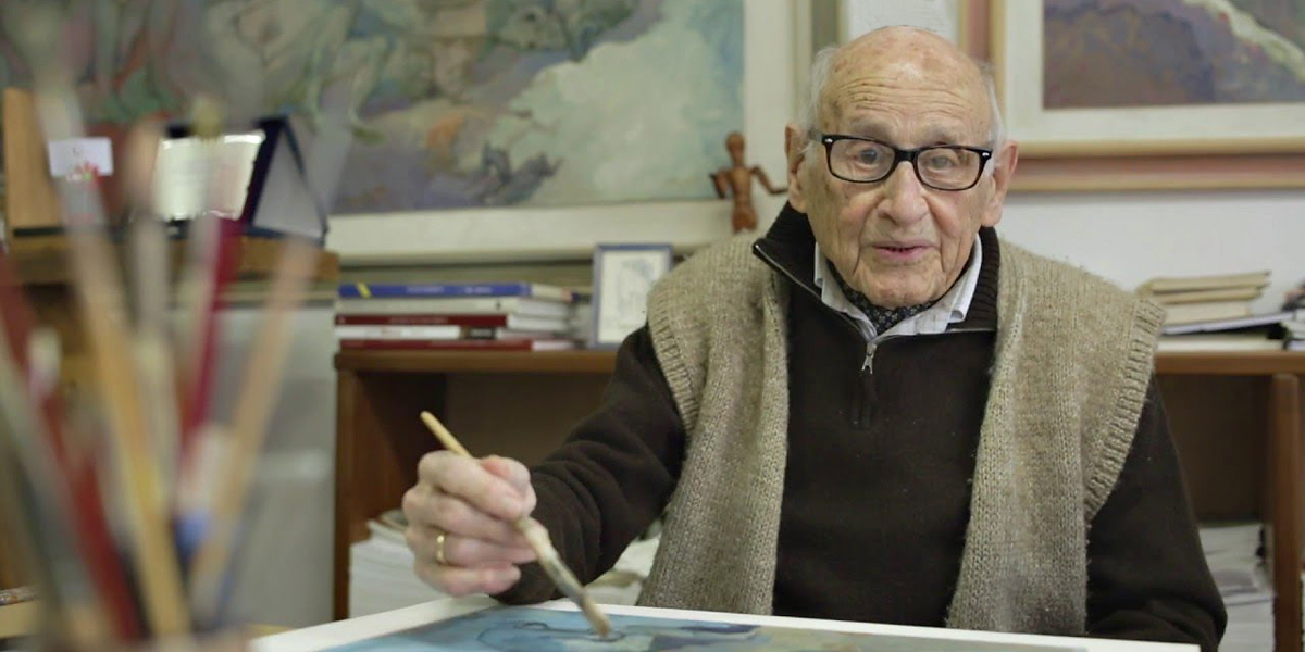 GIORGIO MICHETTI 105 YEAR OLD ART TEACHER