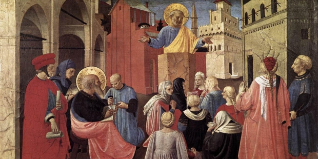 ST PETER PREACHING IN THE PRESENCE OF ST MARK