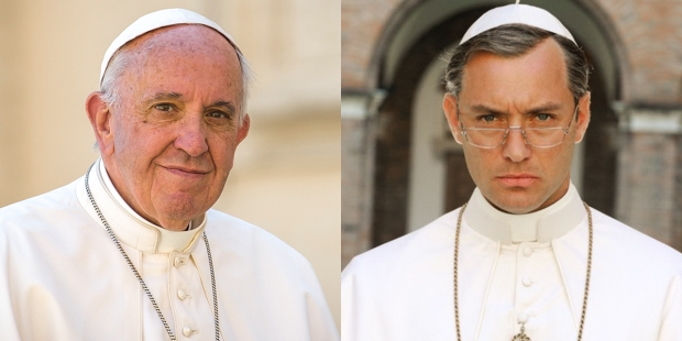 JUDE LAW,POPE FRANCIS