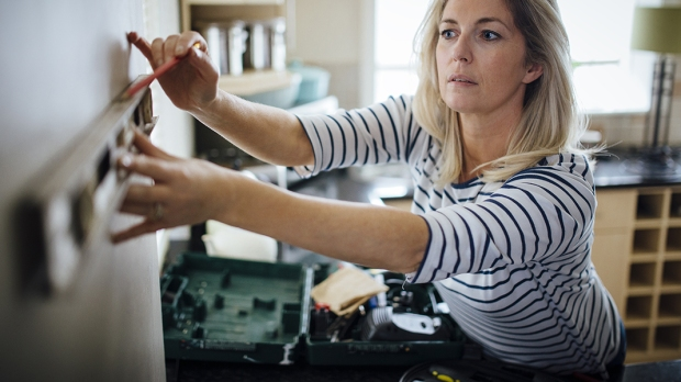 Woman Doing Home Project