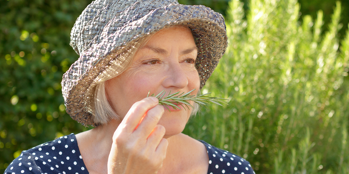 SMELLING ROSEMARY