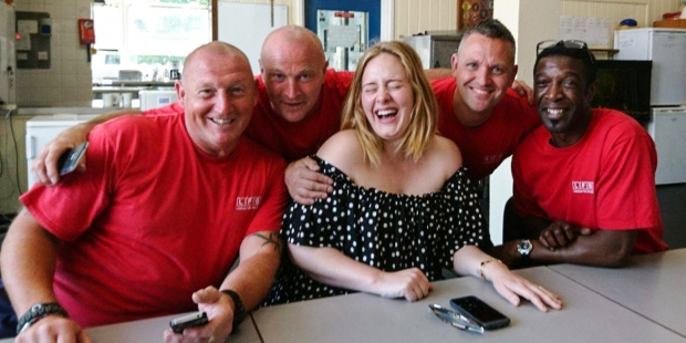 Adele with London Fire Brigade