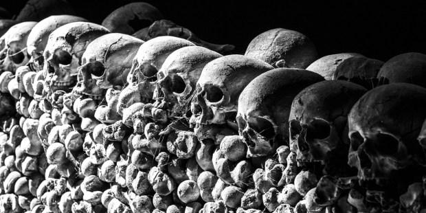 ANCIENT SKULLS,CATACOMBS, CHRISTIAN MARTYRS
