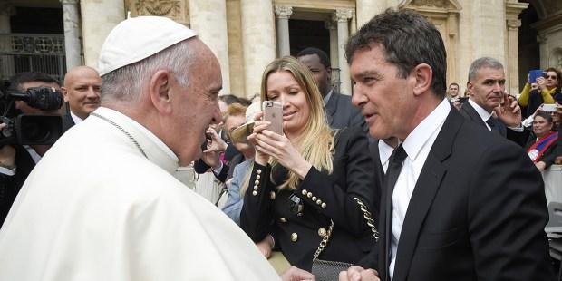 ANTONIO BANDERAS,POPE FRANCIS