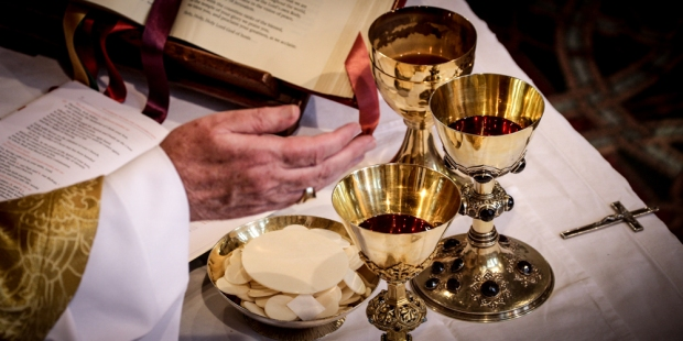 HOLY COMMUNION, GOLD CHALICES