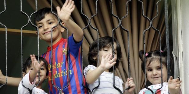 IRAQICHRISTIAN CHILDREN REFUGEES
