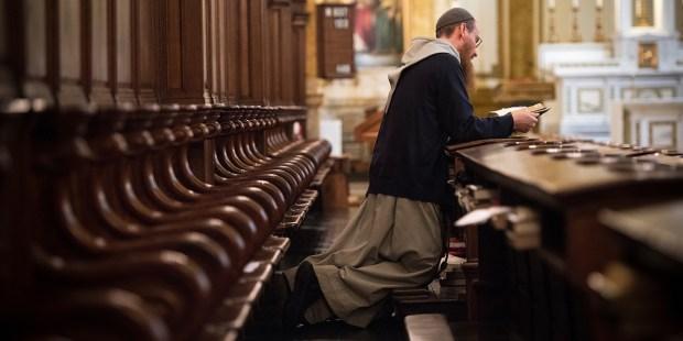FRIAR PRAYING